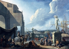 A Capriccio View of Rome with the Castel Sant'Angelo