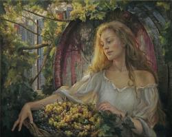 A grape gatherer