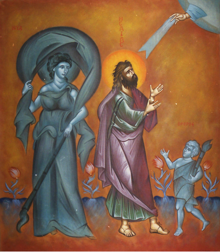 Prophet  Isaiah and the personification of the Night