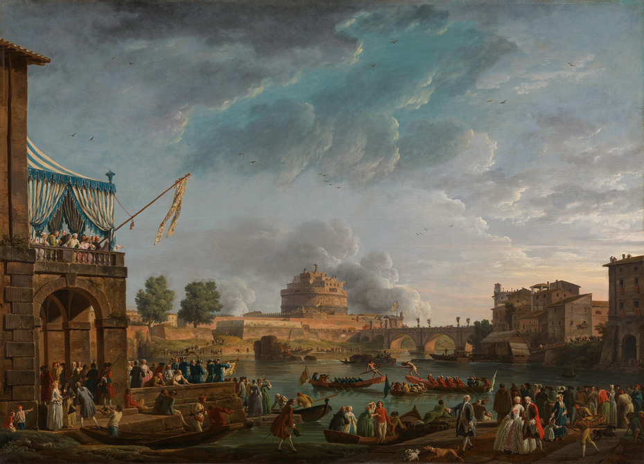 A Sporting Contest on the Tiber at Rome