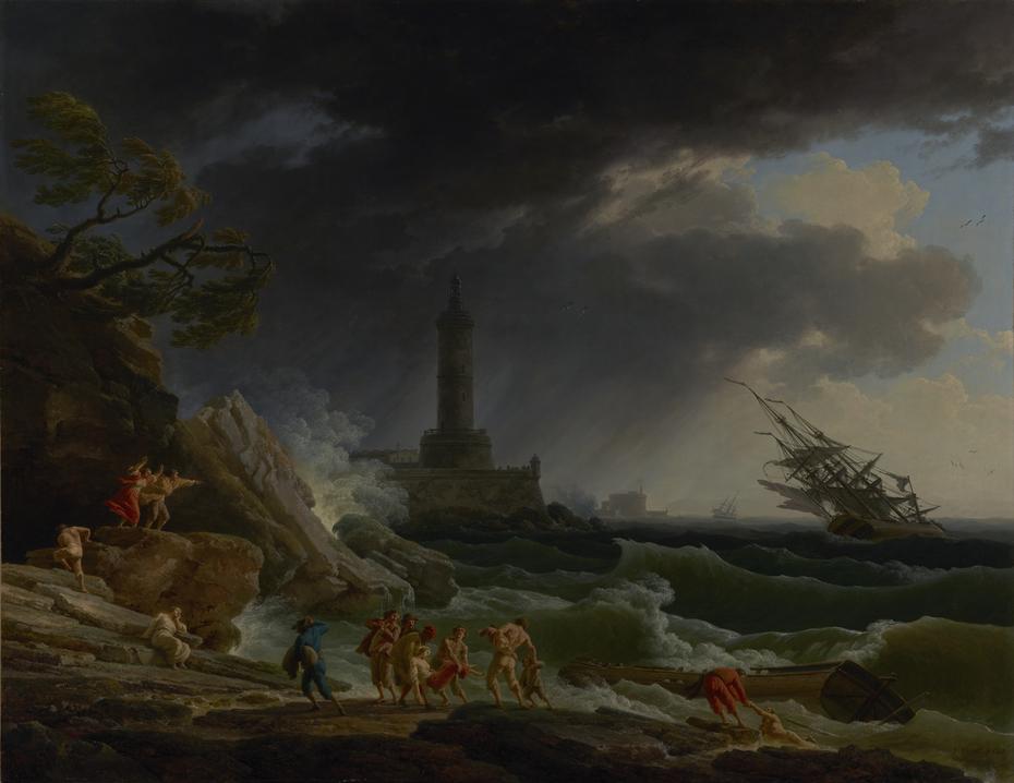 A Storm on a Mediterranean Coast