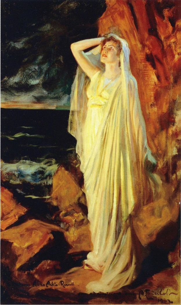 Aino Ackté as Alcestis on the Banks of the Styx, Role Portrait