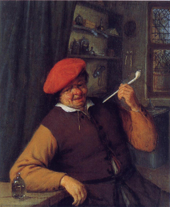 An Apothecary Smoking a Pipe
