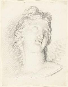 Antieke buste van opziende vrouw