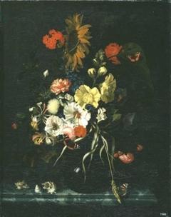 Blumen und Muscheln
