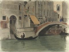 Brug over een kanaal te Venetië