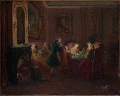 Card Players in a Drawing Room