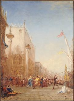 Carnaval à Venise, quai des Esclavons