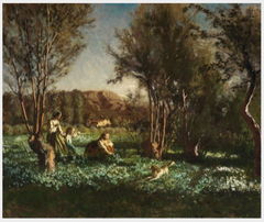Children Playing in a Meadow