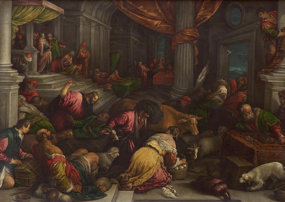 Christus vertreibt die Händler aus dem Tempel