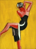 Dancer on Yellow Background