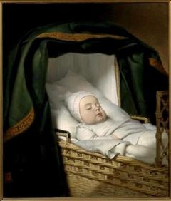 De gestorven Arent van IJsendijk (1829-1830) in zijn wieg