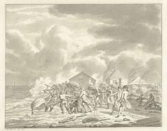 De overstroming van de Diemerzeedijk bij Amsterdam, 1776