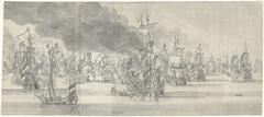 De Zeeslag voor Katwijk (rechterblad), 1653