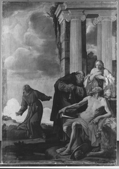 Die hll. Hieronymus, Maria Magdalena, Antonius und Franziskus (Kopie nach)