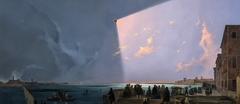 Eclips of the Sun in Venice in July 8, 1842 at Fondamenta Nove