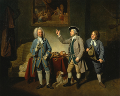 "Edward Shuter, John Beard, and John Dunstall in Isaac Bickerton's ""Love in a Village"""