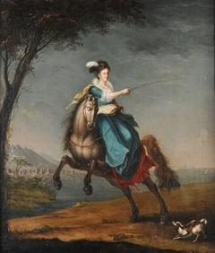 Equestrian portrait of Carlota Joaquina de Bourbon