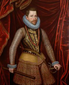 Erzherzog Albrecht VII. (1559-1621) im Harnisch, Kniestück