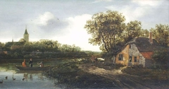 Farmhouse on the river