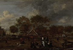 Farmstead with the Gentleman Farmer and his Wife and the Painter in the foreground