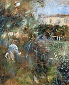 Femme au jardin (villa Arnulphi à Nice)