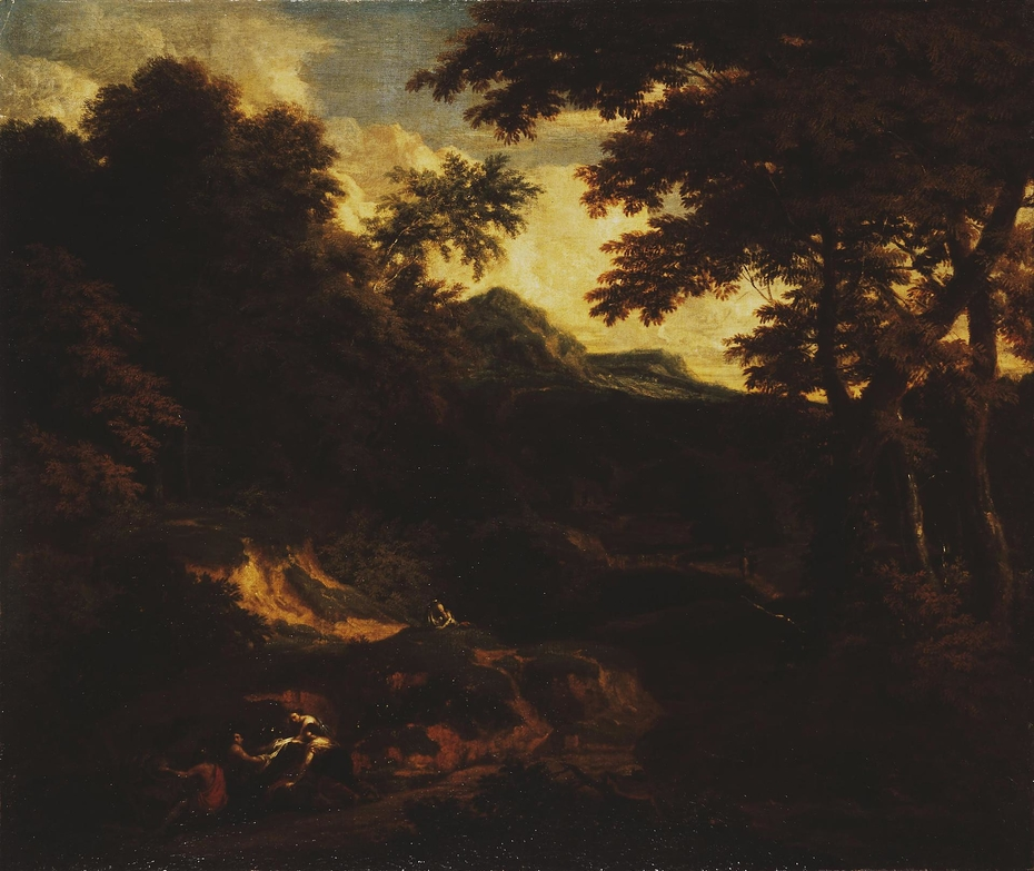 Forest Landscape with Figures by the Road