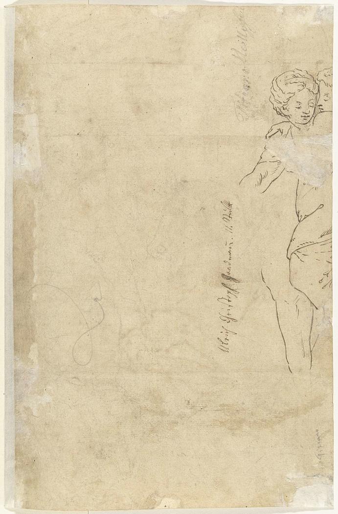 Fragment van een staande jonge vrouw die omhelst wordt