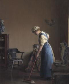 Girl Sweeping