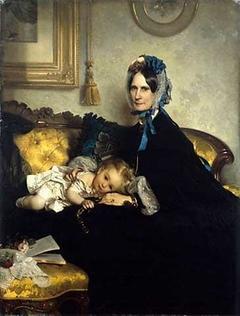 Großmutter mit Enkelkind