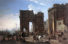 Harbour View with Triumphal Arch