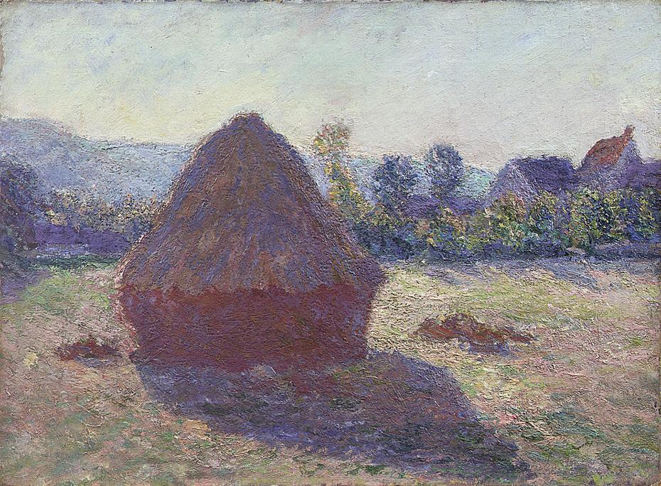 Haystack in the Evening Sun