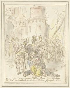 Helena wordt bij haar aankomst in Troje verwelkomd door Hector