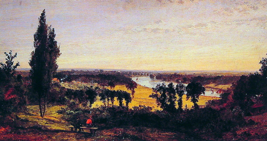 Hill and the Thames, London