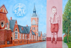 'Holme Hill Primary School' (2012), oil on linen,  66 x 96.5 cm