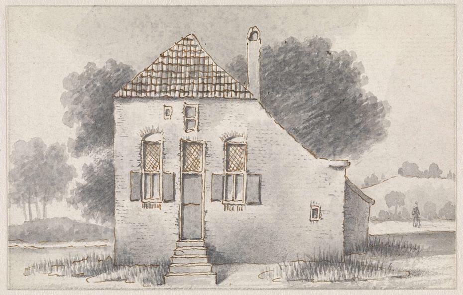 Huis te Zoelmond, in de Betuwe, frontaal gezien