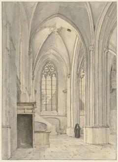 Interieur van de kerk van Rhenen