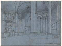 Interieur van de Nieuwe Kerk in Haarlem