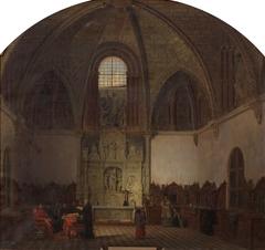 Interior de la capilla de San Bernardo donde se juramentaron los comuneros de Castilla (hoy sacristía mayor de la catedral de Ávila) en ocasión de celebrarse una conferencia por su obispo y cabildo