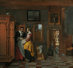 Interior with Women beside a Linen Cupboard