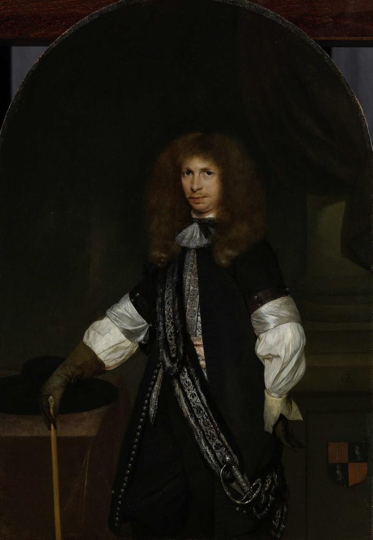 Jacob de Graeff (1642-90). In the Uniform of an Officer