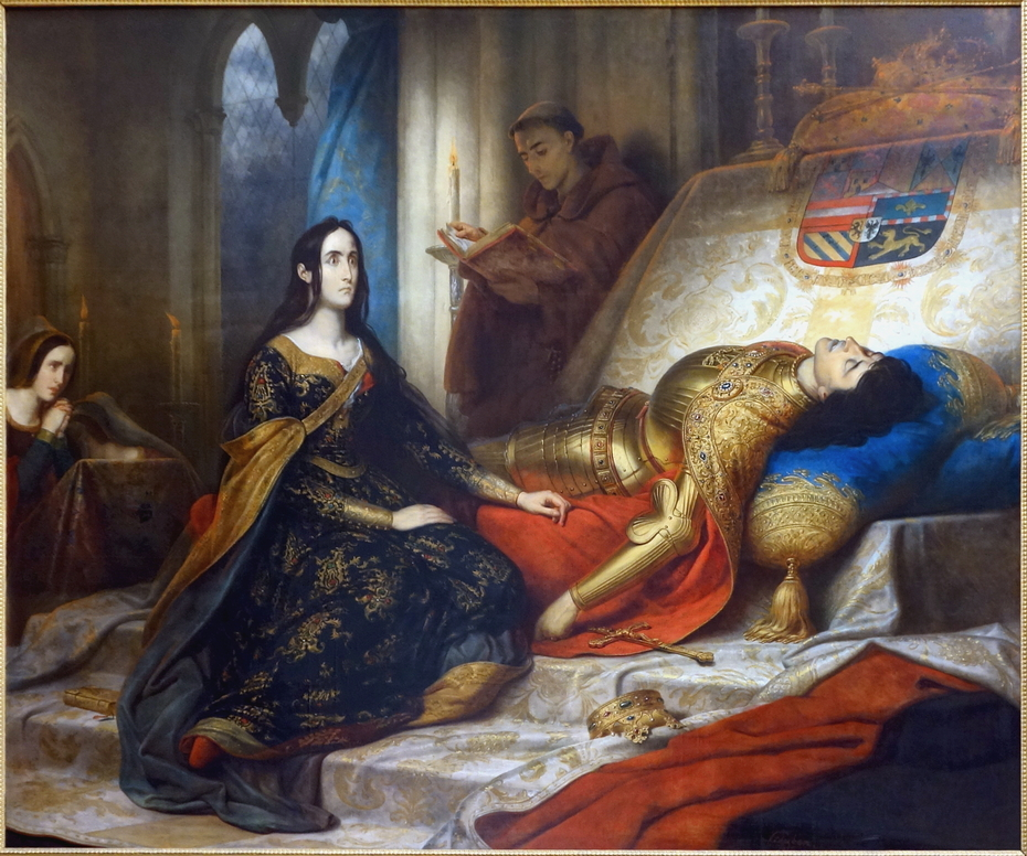 Jeanne la folle attendant la résurrection de Philippe le Beau son mari