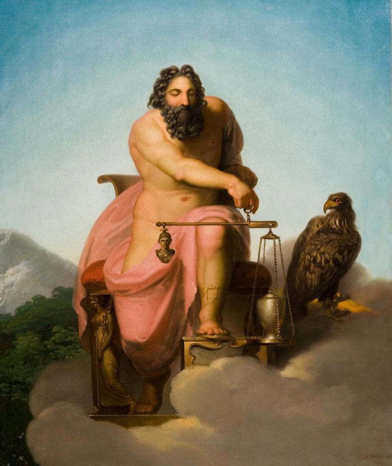 Jupiter Weighing the Fate of Man
