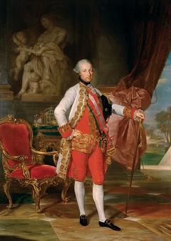 Kaiser Joseph II. (1741-1790) with a Statue of Mars