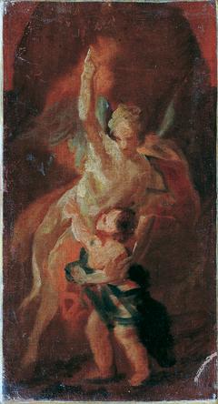 Kind mit Schutzengel