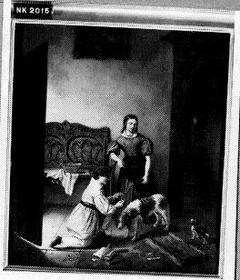 Kinderen met hond in interieur