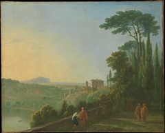 Lake Nemi and Genzano from the Terrace of the Capuchin Monastery
