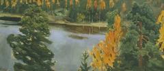 Lake view in autumn