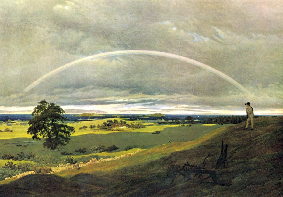 Landscape On Rügen With Rainbow