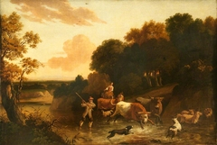 Landscape with Cattle, Sheep and Goats